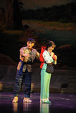 Envolvendo a ópera de Jiangxi da roupa uma balança romana Imagens de Stock