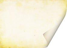 Envolveu uma folha de papel velha imagens de stock royalty free