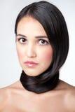 Envolvido em torno de um cabelo da garganta Fotografia de Stock Royalty Free