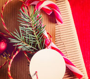 Envolvimento atual do Natal ou do ano novo fotos de stock