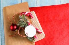 Envolvimento atual do Natal ou do ano novo fotografia de stock