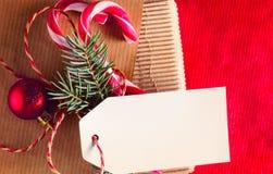 Envolvimento atual do Natal ou do ano novo fotos de stock royalty free