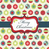 Envolvimento azul e verde vermelho do Natal Fotografia de Stock Royalty Free