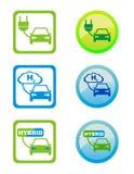 envonmental vänliga bränslesymboler Arkivbilder