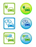 envonmental życzliwe paliwowe ikony obrazy stock