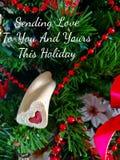 Envoyant à amour ces vacances Photo stock