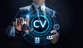 Envoyez cv, r?sum?, recrutement, emploi, louant le concept d'affaires illustration de vecteur