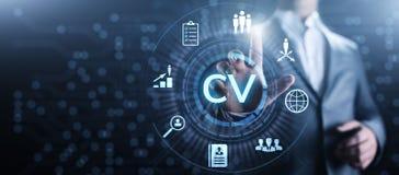 Envoyez cv, r?sum?, recrutement, emploi, louant le concept d'affaires photographie stock
