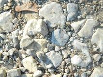Envoyez et des roches sur la terre images libres de droits