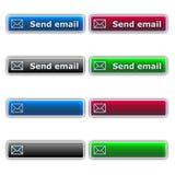 Envoyez les boutons d'email Image libre de droits