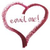 Envoyez-moi le message dans la forme de coeur Photos libres de droits