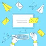 Envoyez une lettre, vente d'email Image libre de droits