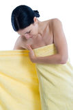 Enwrapping with towel Stock Photo