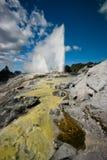 Enxôfre e depósitos e geyser geothermal do silicone fotos de stock royalty free