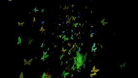Enxame das borboletas que voam o laço ascendente ilustração royalty free