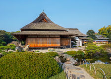 Enyo-tei House at Korakue-en garden in Okayama Royalty Free Stock Photography