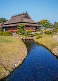Enyo-tei House at Korakue-en garden in Okayama Royalty Free Stock Images