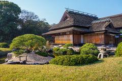 Enyo-tei House at Korakue-en garden in Okayama Royalty Free Stock Photo