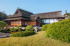 Enyo-tei House at Korakue-en garden in Okayama Royalty Free Stock Photo