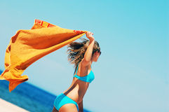 Free Enyoing Summertime Stock Photography - 5473742
