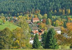 Enzkloesterle, foresta nera, Germania Fotografia Stock Libera da Diritti