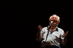 Enzo Jannacci canta en Rimini Fotos de archivo libres de regalías