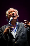 Enzo Jannacci canta en Rimini Imagen de archivo