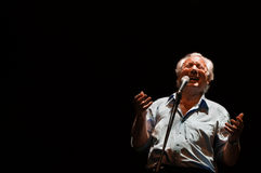 Enzo Jannacci singt in Rimini Lizenzfreie Stockfotos