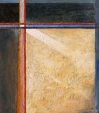 Eoa no. 12 - an abstract painting. An abstract painting constructed afound a cross of crucifix motiif Stock Photography