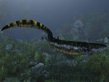 Eogyrinus attheyi - 3D Dinosaur Royalty Free Stock Photo