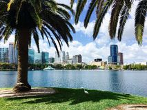 Eola do parque de Orlando Fotos de Stock