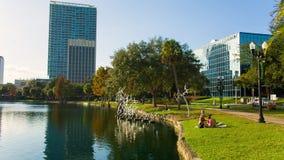 Eola park, Orlando, Florida, USA - DEC, 2016 stock video