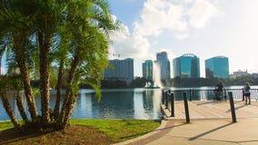 Eola park, Orlando, Florida, USA - DEC, 2016 stock footage