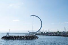 EOLE rzeźba Clelia Bettua w Jeziornym Genewa Zdjęcie Stock