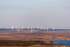 Eolian generator landscape Stock Image