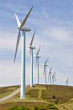 Eolian generators (Basque Country) Royalty Free Stock Photos