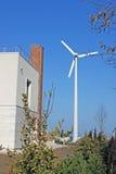 eolian privat turbinbruk Royaltyfri Fotografi