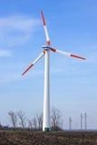 Eolian pylon turbine Royalty Free Stock Image