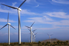 eolic涡轮风 库存照片