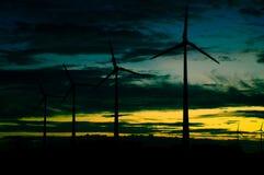 Eolic turbine farm Royalty Free Stock Image