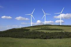 Eolic Turbines Royalty Free Stock Image