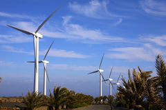Eolic - wind turbine Royalty Free Stock Photos