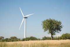 Eoliche de la turbina, en el sud Italia Fotos de archivo libres de regalías