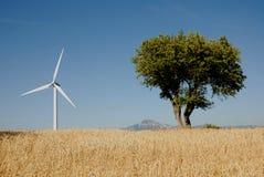 Eoliche de turbine, dans la lessive Italie Photos libres de droits