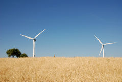 Eoliche della turbina, in sud Italia Fotografie Stock Libere da Diritti