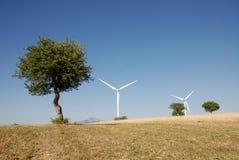 Eoliche della turbina, in sud Italia Fotografia Stock Libera da Diritti