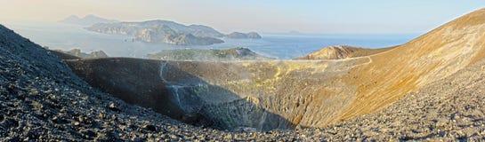Eolie Volcano Aeolian Islands Stock Images