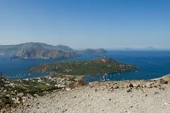 Eolisch eiland, Sicilië Stock Afbeeldingen