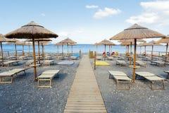 Eoliska öar Spiaggia Fotografering för Bildbyråer
