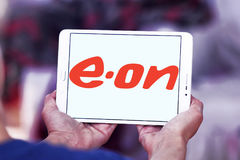 Eon energy company logo. Logo of energy and home services company eon on samsung tablet Royalty Free Stock Photos